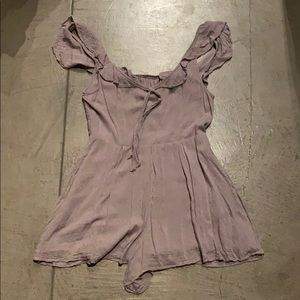 Urban Outfitters Lilac Romper with Pockets